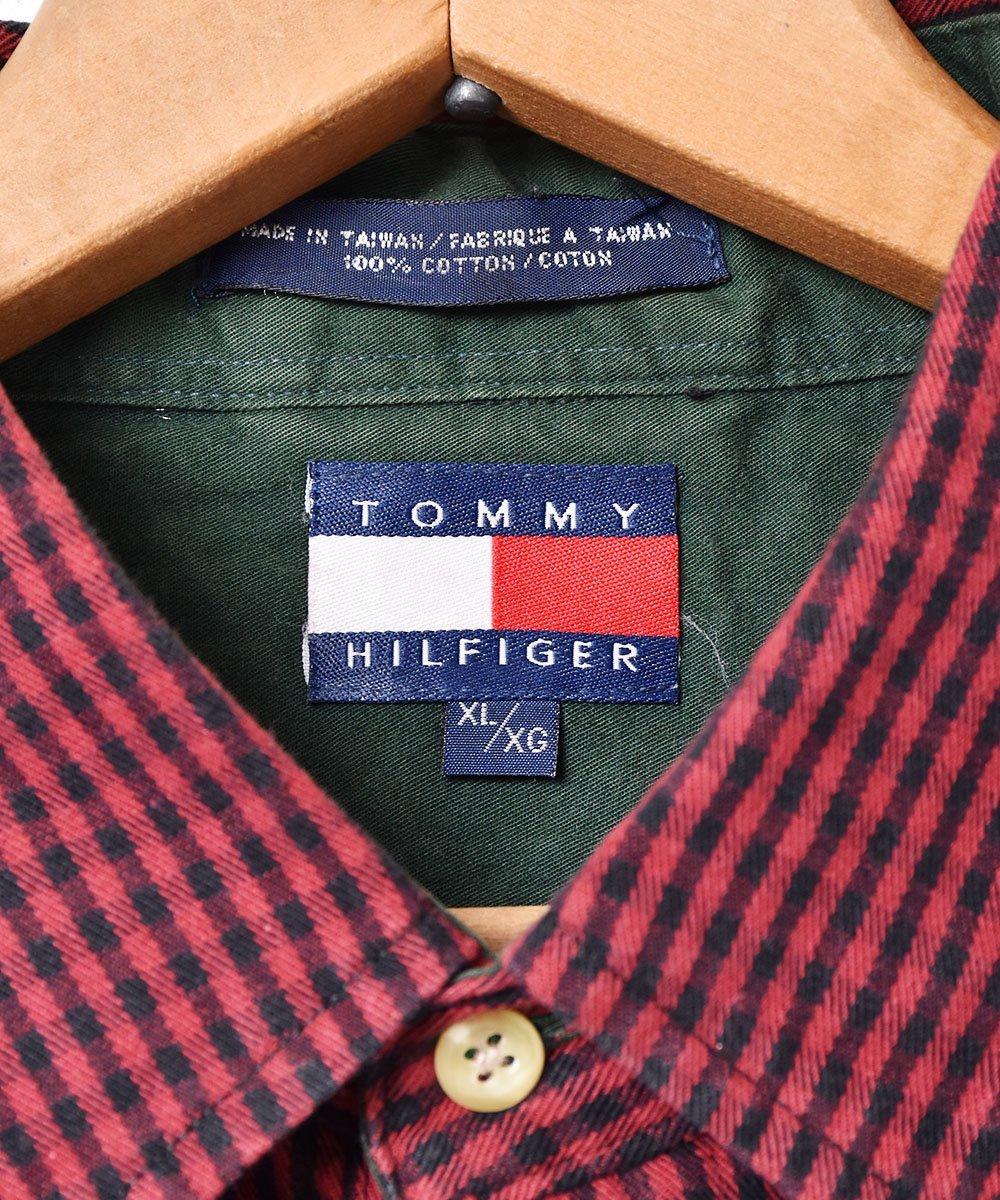 「TOMMY HILFIGER」 ギンガムチェック ボタンダウンシャツサムネイル