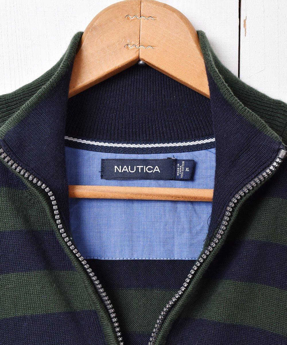 「NAUTICA」ボーダー柄 ハーフジップセーターサムネイル