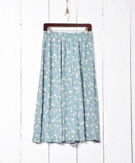 古着小花柄 ランダムプリーツスカート 古着のネット通販 古着屋グレープフルーツムーン