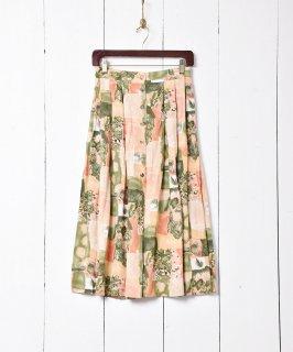 古着カナダ製 絵画風花柄 フロントボタンスカート 古着のネット通販 古着屋グレープフルーツムーン