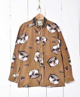 古着アニマル柄 コットンシャツ 古着のネット通販 古着屋グレープフルーツムーン