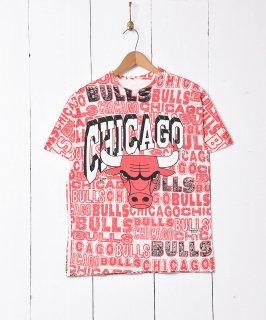 古着「CHICAGO BULLS」総柄  プリントシャツ 古着のネット通販 古着屋グレープフルーツムーン