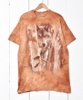 古着「THE MOUNTAIN」  オオカミプリントTシャツ 古着のネット通販 古着屋グレープフルーツムーン