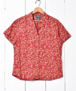 古着「RALPH LAUREN」花柄ショートスリーブシャツ 古着のネット通販 古着屋グレープフルーツムーン
