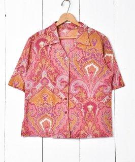 古着ペイズリー柄 ショートスリーブシャツ 古着のネット通販 古着屋グレープフルーツムーン