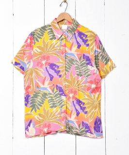 古着ボタニカル柄 ショートスリーブシャツ 古着のネット通販 古着屋グレープフルーツムーン