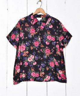 古着バラ柄 ショートスリーブシャツ 古着のネット通販 古着屋グレープフルーツムーン