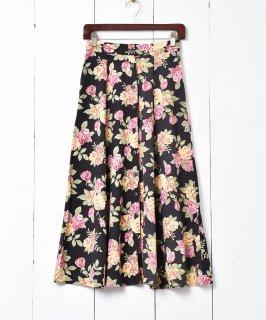 古着アメリカ製 花柄 フロントボタンフレアスカート 古着のネット通販 古着屋グレープフルーツムーン