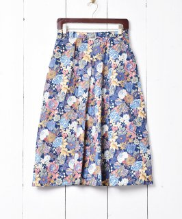 古着花柄 1タックフレアスカート 古着のネット通販 古着屋グレープフルーツムーン