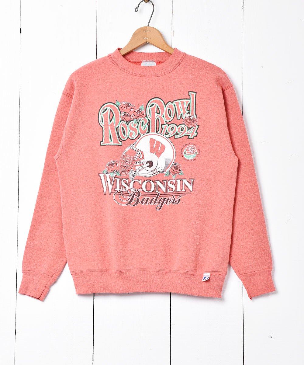 古着 アメリカ製 1994年 「Rose Bowl」Badgersプリントスウェット 古着 ネット 通販 古着屋グレープフルーツムーン