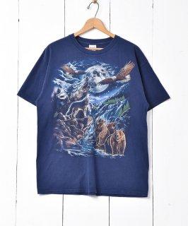古着「GILDAN」 アニマルプリントTシャツ 古着のネット通販 古着屋グレープフルーツムーン