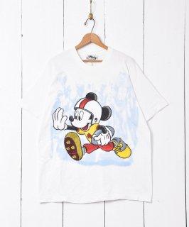 古着アメリカ製 アメフトミッキープリントTシャツ 古着のネット通販 古着屋グレープフルーツムーン