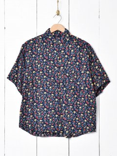 古着小花柄 ショートスリーブシャツ 古着のネット通販 古着屋グレープフルーツムーン