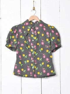 古着格子柄 ウエストリボンシャツ 古着のネット通販 古着屋グレープフルーツムーン