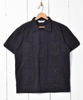 古着【3色展開】「Backers」キューバシャツ 半袖シャツ ブラック 古着のネット通販 古着屋グレープフルーツムーン