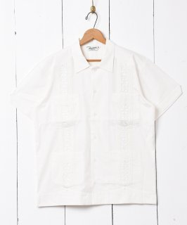 古着【3色展開】「Backers」キューバシャツ 半袖シャツ ホワイト 古着のネット通販 古着屋グレープフルーツムーン