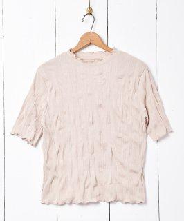 古着【3色展開】「meridian」ワッシャーカットソー ベージュ 古着のネット通販 古着屋グレープフルーツムーン