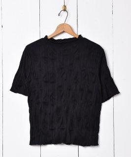 古着【3色展開】「meridian」ワッシャーカットソー ブラック 古着のネット通販 古着屋グレープフルーツムーン