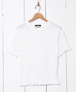 古着【2色展開】「meridian」プリーツカットソー オフホワイト 古着のネット通販 古着屋グレープフルーツムーン