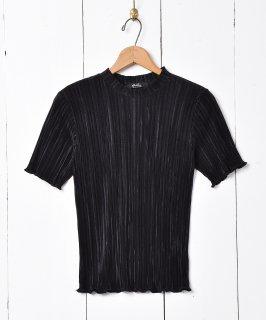 古着【2色展開】「meridian」プリーツカットソー ブラック 古着のネット通販 古着屋グレープフルーツムーン