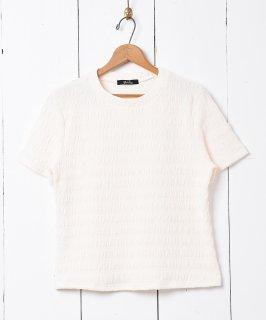 古着【2色展開】「meridian」シュリンクカットソー ホワイト 古着のネット通販 古着屋グレープフルーツムーン