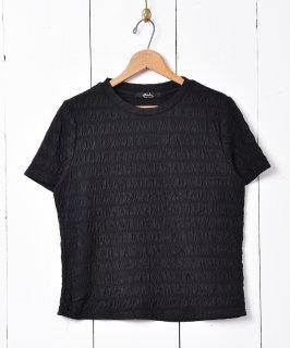古着【2色展開】「meridian」シュリンクカットソー ブラック 古着のネット通販 古着屋グレープフルーツムーン