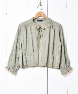 古着【3色展開】「meridian」ヴィンテージライク ベッドジャケット グリーン 古着のネット通販 古着屋グレープフルーツムーン