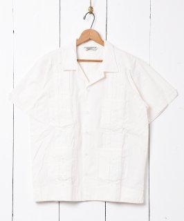 古着【4色展開】「Backers」 キューバシャツ ホワイト 古着のネット通販 古着屋グレープフルーツムーン