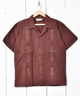 古着【4色展開】「Backers」 キューバシャツ ブラウン 古着のネット通販 古着屋グレープフルーツムーン