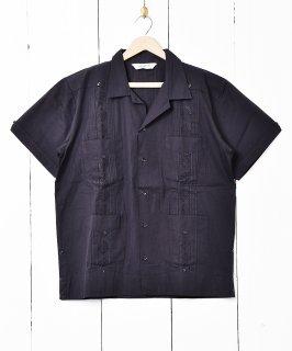 古着【4色展開】「Backers」 キューバシャツ ブラック 古着のネット通販 古着屋グレープフルーツムーン