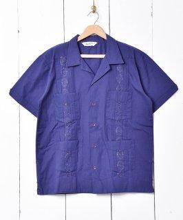 古着【4色展開】「Backers」 キューバシャツ ネイビー 古着のネット通販 古着屋グレープフルーツムーン