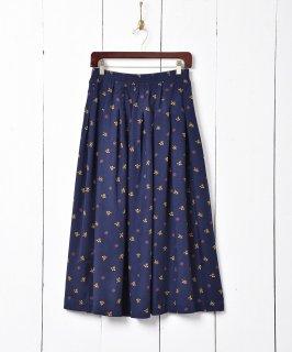 古着総柄 ミモレ丈スカート 古着のネット通販 古着屋グレープフルーツムーン