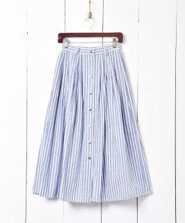 古着「LIZ SPORT」 ストライプ柄 フロントボタンスカート 古着のネット通販 古着屋グレープフルーツムーン