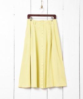 古着ヨーロッパ製 フロントボタンフレアスカート 古着のネット通販 古着屋グレープフルーツムーン