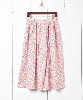 古着花柄 フロントボタンスカート 古着のネット通販 古着屋グレープフルーツムーン