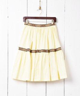 古着チロリアンテープ ティアードスカート 古着のネット通販 古着屋グレープフルーツムーン
