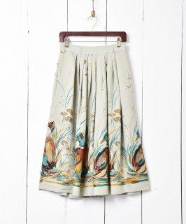 古着ヨーロッパ製 カモプリントスカート 古着のネット通販 古着屋グレープフルーツムーン
