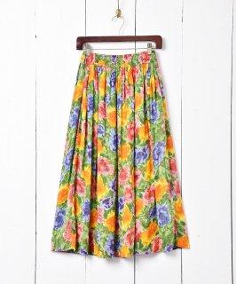 古着花柄 シフォンスカート 古着のネット通販 古着屋グレープフルーツムーン