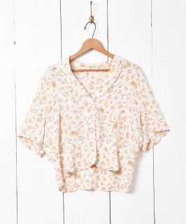古着小花柄 開襟ショートスリーブシャツ 古着のネット通販 古着屋グレープフルーツムーン