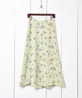 古着花柄 フロントボタンスリットスカート 古着のネット通販 古着屋グレープフルーツムーン