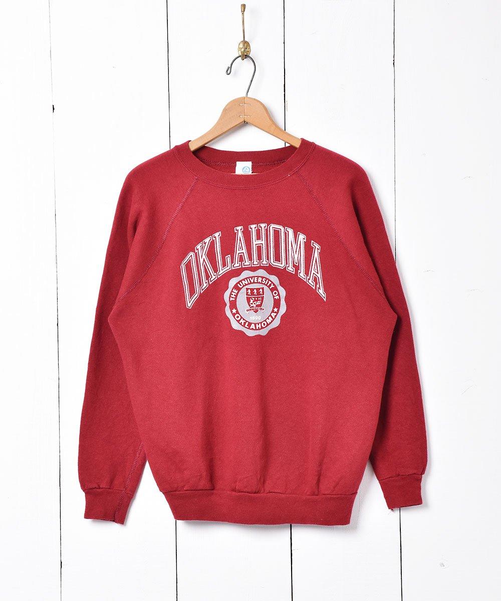 古着 アメリカ製 オクラホマ大学ロゴスウェット 古着 ネット 通販 古着屋グレープフルーツムーン