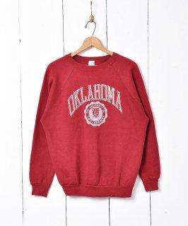 古着アメリカ製 オクラホマ大学ロゴスウェット 古着のネット通販 古着屋グレープフルーツムーン