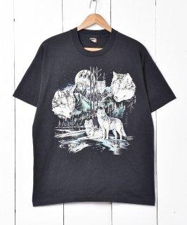 古着アメリカ製「SCREEN STARS」オオカミプリントTシャツ 古着のネット通販 古着屋グレープフルーツムーン
