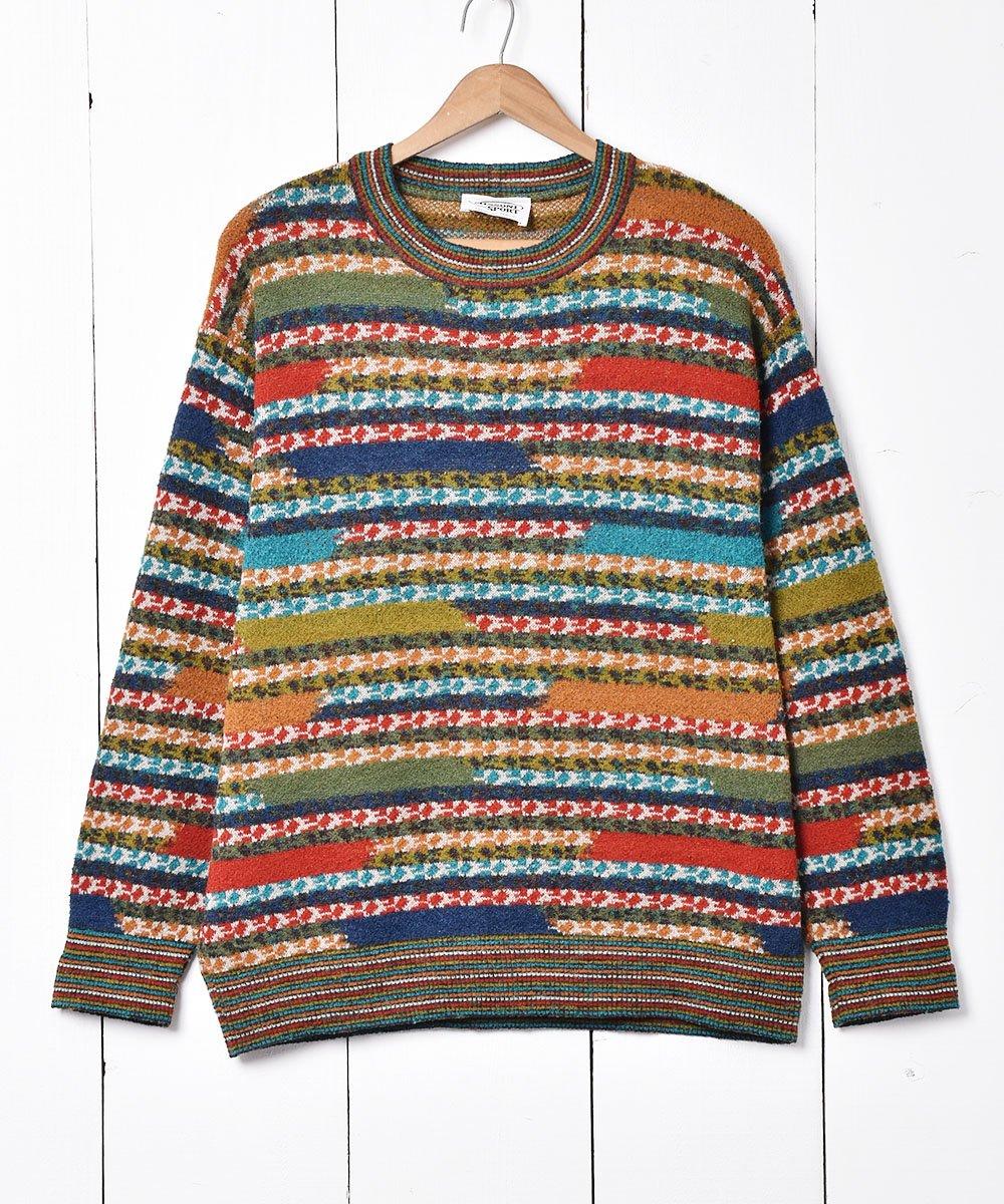 古着 イタリア製 「MISSONI SPORT」デザインセーター 古着 ネット 通販 古着屋グレープフルーツムーン