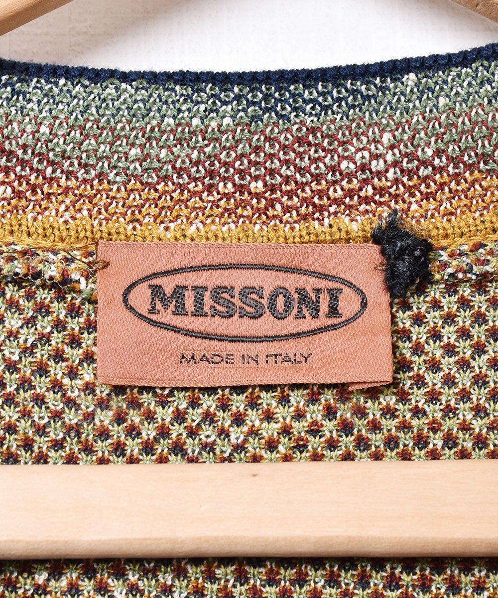 イタリア製 「MISSONI 」総柄コットンセーターサムネイル