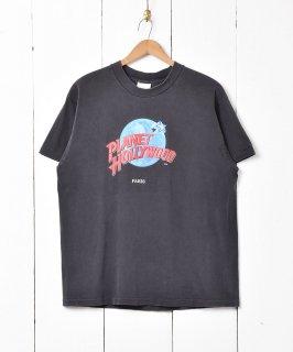 古着アメリカ製 「Planet Hollywood」ロゴプリントTシャツ 古着のネット通販 古着屋グレープフルーツムーン