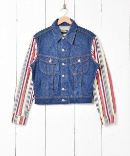 古着スリーブデザイン デニムジャケット 古着のネット通販 古着屋グレープフルーツムーン