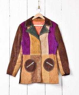 古着クレイジーパターン スエードジャケット  古着のネット通販 古着屋グレープフルーツムーン