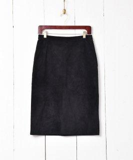古着バックデザイン スエード ペンシルスカート 古着のネット通販 古着屋グレープフルーツムーン