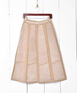 古着ニットデザイン スエードスカート 古着のネット通販 古着屋グレープフルーツムーン